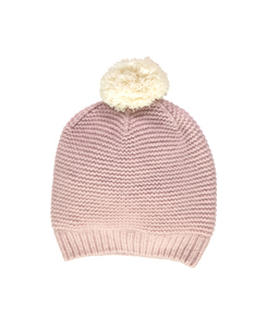 올리비에 cashmere Plain Garter Hat _ Dusty Rose