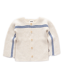 우프 STRIPE CARDIGAN_WHITE/BLUE