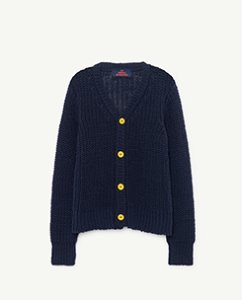 PLAIN RACCOON KIDS CARDIGAN 000940_064_XX