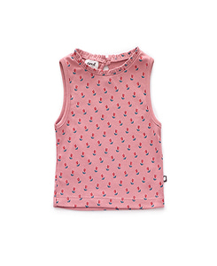 SLEEVELESS TOP_DARK PINK/TULIPS