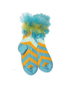 SAVERINE SOCKS_BLUE