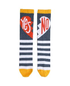 YES/NO SOCKS_NAVY