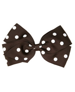 베르티존스 LARGE  POLKA DOT HAIR CLIP_LICORICE
