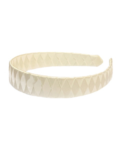 베르티존스 LARGE BRAIDED SATIN ALICE BAND_IVORY