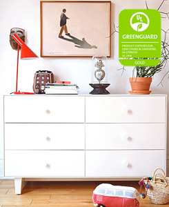 MERLIN 6 DRAWER DRESSER BIRCH/WHITE