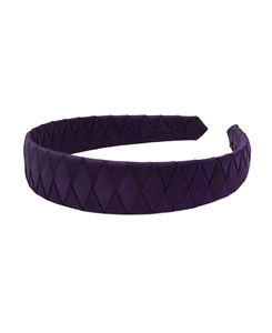 베르티존스 LARGE BRAIDED ALICE BAND_SHADOW PURPLE