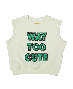 SHORT SLEEVE SWEATSHIRT_WAY TOO CUTE CHEST