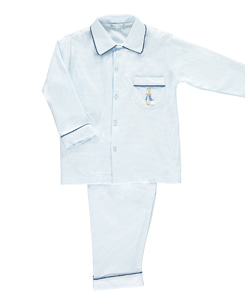 Peter Rabbit Pima Pyjamas_Blue Stripe