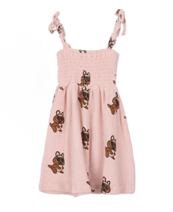 TERRY 80'S DRESS_BROWN CANGURO