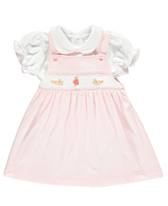 Flopsy Bunny Smocked Pinafore Dre/Blo_Pink White