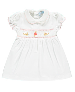 Flopsy Bunny Smocked Dress_White/Pink