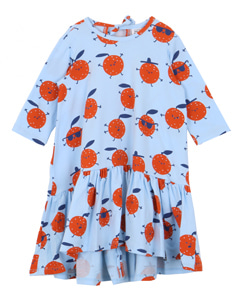 LONGSLEEVE DRESS_LIGHT BLUE ORANGES