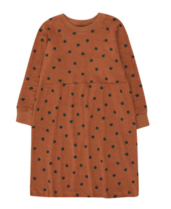 타이니코튼 SMALL APPLES DRESS_BROWN/BOTTLE GREEN
