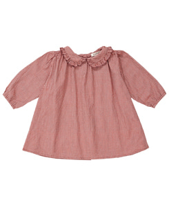 카라멜 PHOEBE BABY DRESS_POPPY MICROCHECK