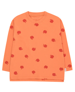 타이니코튼 APPLES LS TEE_CORAL/BURGUNDY