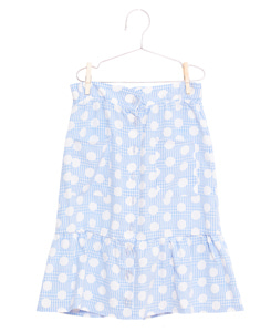 피쉬앤키즈 DOTS SKIRT_BLUE