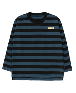타이니코튼 STRIPES LS TEE_BLACK/TRUE NAVY