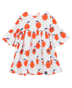 OVERSIZED DRESS_WHITE ORANGES