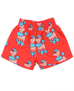 WOVEN SHORT_RED POODLE