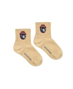 타이니코튼 BEAR MEDIUM  SOCKS_SAND/TRUE NAVY