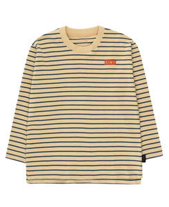 타이니코튼 STRIPES LS TEE_SAND/TRUE NAVY