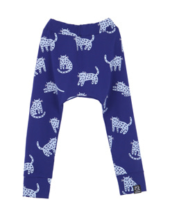 BAGGY PANTS_BERRY BLUE CHEETAH