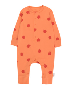 타이니코튼 APPLES ONE-PIECE_CORAL/BURGUNDY