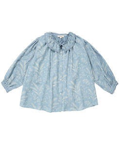 카라멜 ADIKIA BLOUSE_WHEAT PRINT CRYSTAL BLUE