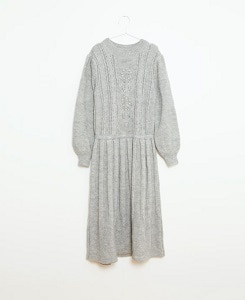 피쉬앤키즈 VICTORIAN KNITTED DRESS_GREY