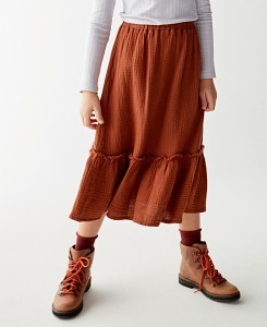 더 캄파멘토] BAMBULA SKIRT_BROWN