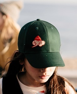 타이니코튼 LUCKYPHANT CAP_BOTTLE GREEN/SAND