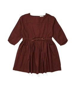 카라멜 PELIAS DRESS_CHOCOLATE