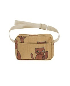 타이니코튼 CATS FANNY BAG_SAND/BROWN