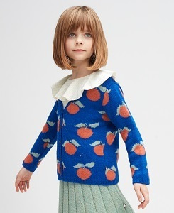 우프 CLEMENTINE CARDI_ELECTRIC BLUE/APRICOT