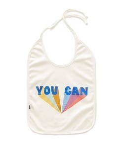 우프 LARGE BIB_WHITE/YOU CAN