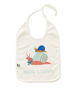 우프 LARGE BIB_WHITE/BLUE SLOW LIVING