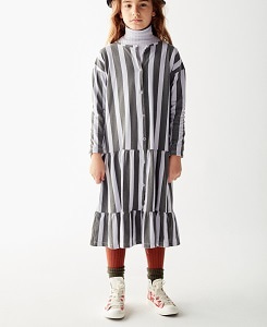 더 캄파멘토  STRIPED DRESS_GREEN STRIPES