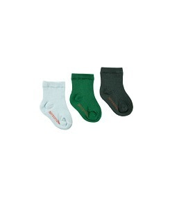타이니코튼 PACK OF 3 MEDIUM RIB SOCKS_	BOTTLE GREEN/DEEP GREEN/LIGHT MINT