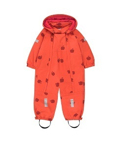 타이니코튼 APPLES SNOW ONE-PIECE_RED/BURUNDY