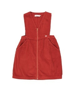 타이니코튼 CORD V-NECK DRESS_BURGUNDY