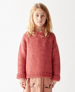 더 캄파멘토 KNITTED SWEATER_INDIGO PINK