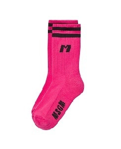 MSGM HIGH SOCK UNISEX_FUCSIA FLUO