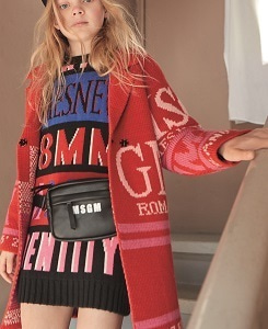 MSGM KNIT COAT GIRL_RED