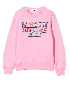 MSGM SWEATSHIRT GIRL_PINK