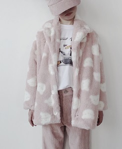 캐롤라인보스만 FAKE FUR JACKET_TEDDY PINK