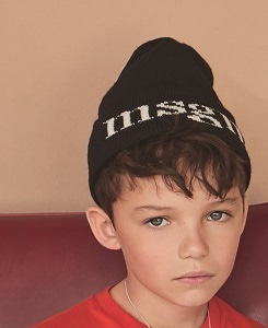 MSGM KNUT HAT BOY_BLACK