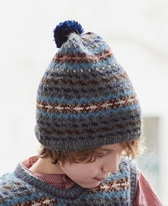 카라멜 AGON CHILD HAT_GREY MELANGE FAIRISLE