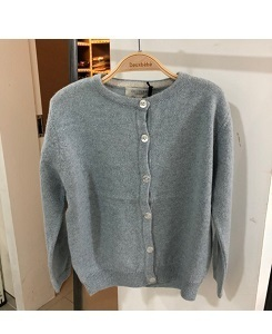 올리비에 CASHMERE LOUISA CARDIGAN_DUCK EGG