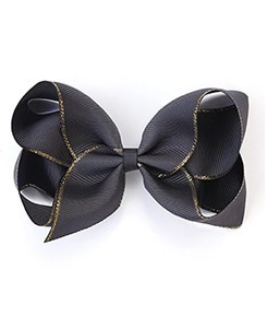 베르티존스 Large Hair Clip Gold Edge_Charcoal
