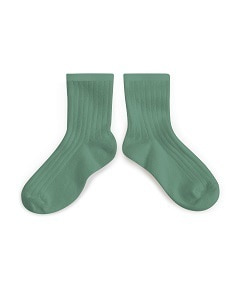 꼴레지앙 La Mini Ribbed Ankle Socks_celadon(3450 748)